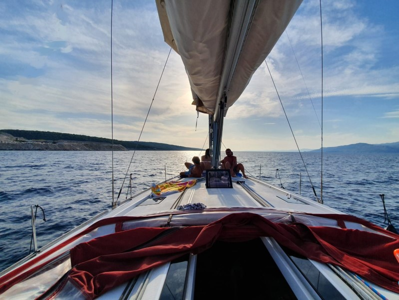 Sailing in Croatia on a sailing boat