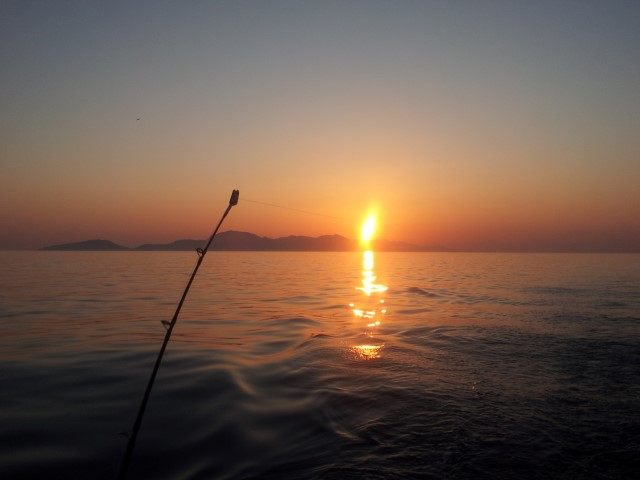 sunset sailing in Croatia